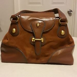 MAXX NEW YORK Suede and leather Satchel